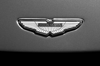 Black And White Images Photograph - Aston Martin Emblem by Jill Reger