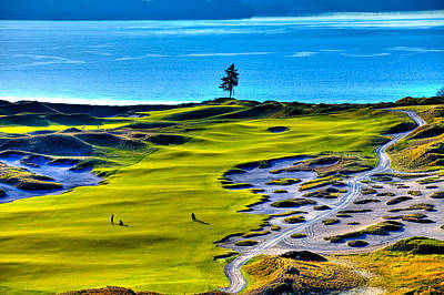 Sports Royalty-Free and Rights-Managed Images - #5 at Chambers Bay Golf Course - Location of the 2015 U.S. Open Tournament by David Patterson