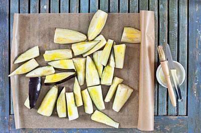 Eggplants Photograph - Aubergine  by Tom Gowanlock