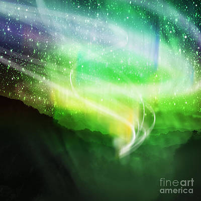 Illuminating Digital Art - Aurora Borealis by Setsiri Silapasuwanchai