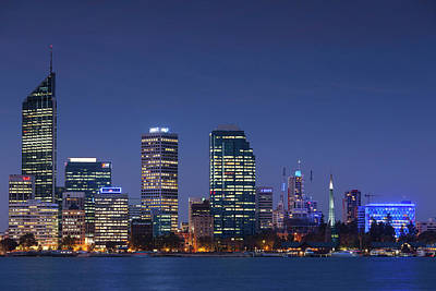 Australia, Perth, City Skyline Art Print