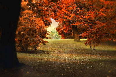 Red Leaf Digital Art - Autumn Ablaze by Jessica Jenney