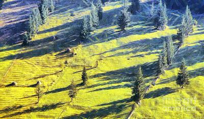 Sicily Painting - Autumn Landscape by Odon Czintos