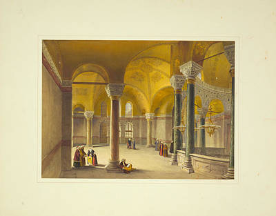 Miniature Painting - Ayasofya Mosque by Celestial Images