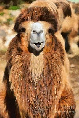 Camel Painting - Bactrian Camel by George Atsametakis