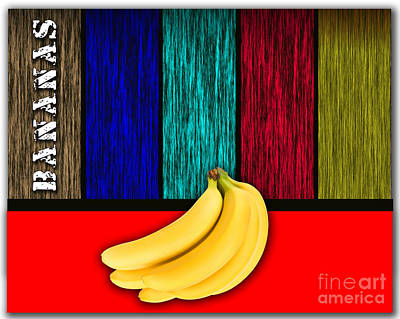 Fruit Mixed Media - Bananas by Marvin Blaine