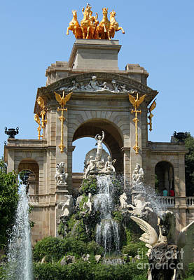 Photograph - Barcelona Spain - Dragon Fountain by Gregory Dyer