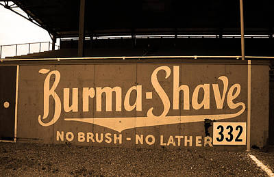 Baseball Field Burma Shave Sign Art Print by Frank Romeo