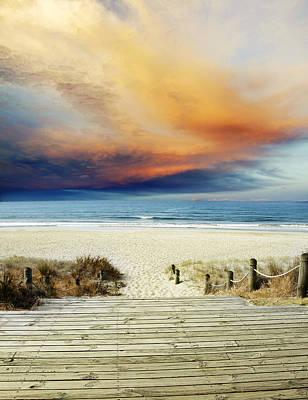 Beach View Art Print by Les Cunliffe