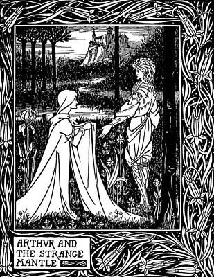 Camelot Drawing - Beardsley Morte D'arthur by Granger
