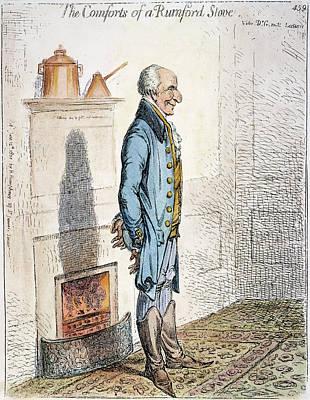 Comfort Painting - Benjamin Thompson (1753-1814) by Granger