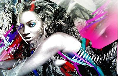 Beyonce Art Print by Bogdan Floridana Oana