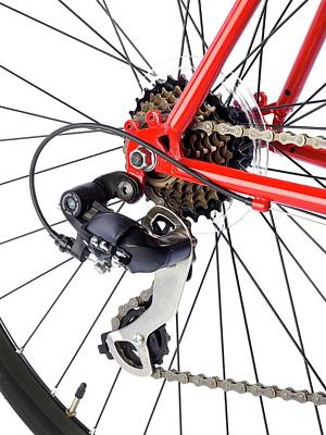 Bicycle Rear Gears Art Print by Science Photo Library