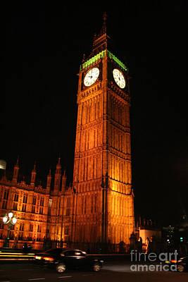Financial Mixed Media - Big Ben At Night by Doc Braham