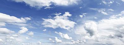 Big Blue Sky Art Print by Les Cunliffe