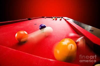 Pool Break Photograph - Billards Pool Game by Michal Bednarek