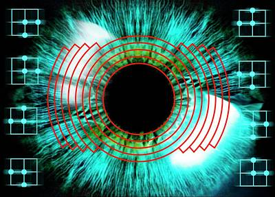 Biometrics Photograph - Biometric Eye Scan by Alfred Pasieka