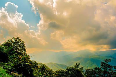 Photograph - Blue Ridge Parkway Scenic Mountains Overlook by Alex Grichenko