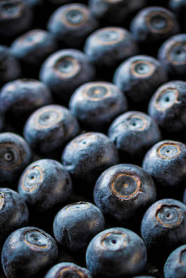 Blueberries Art Print by Aberration Films Ltd