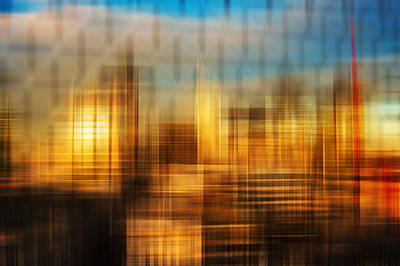 Impressionist Photograph - Blurred Abstract Colorful Background by Matthew Gibson