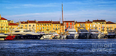 Water Vessels Photograph - Boats At St.tropez by Elena Elisseeva
