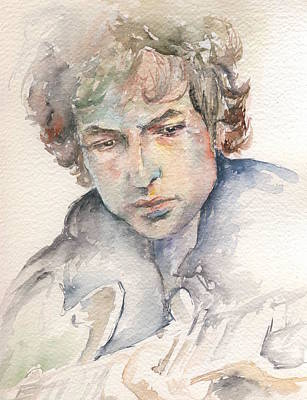 Led Zeppelin Painting - Bob Dylan by Marina Sotiriou