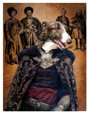 Painting - Borzoi - Russian Wolfhound Art Canvas Print  by Sandra Sij