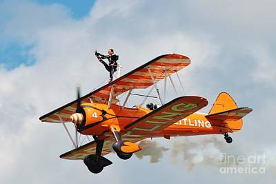 Photograph - Breitling Wingwalkers Team by David Fowler