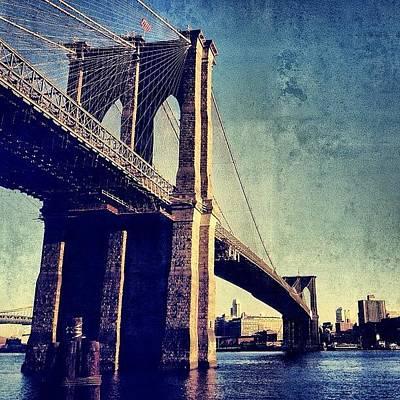 Skylines Photograph - Brooklyn Bridge - New York by Joel Lopez