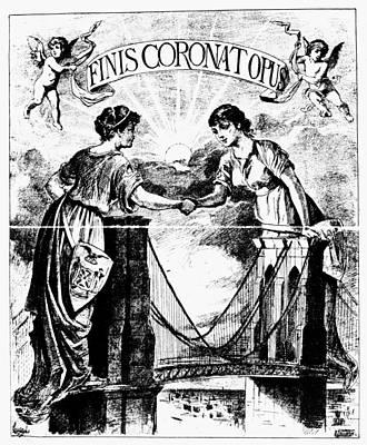 Unity Painting - Brooklyn Bridge, 1883 by Granger