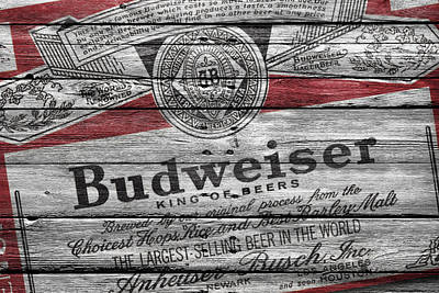 Six Photograph - Budweiser by Joe Hamilton