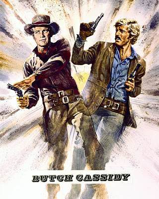 Butch Cassidy And The Sundance Kid  Art Print by Silver Screen