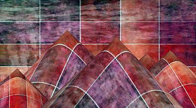 Mixed Media - 5 By 5 Lava Peaks by Angelina Vick