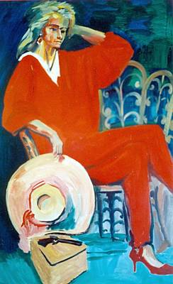 Painting - C15.  The Lady In Red by Les Melton