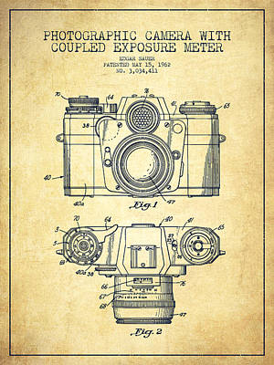 Camera Patent Drawing From 1962 Art Print
