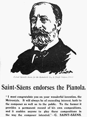 Camille Saint-saens (1835-1921) Art Print