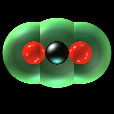 Atom Photograph - Carbon Dioxide Molecule by Russell Kightley