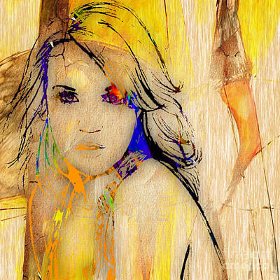 Country Mixed Media - Carrie Underwood by Marvin Blaine