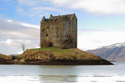 Scottish Landscape Photograph - Castle Stalker by Maria Gaellman