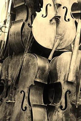 5 Cellos Sepia Art Print