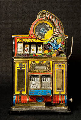 Digital Art - 5 Cent Slot Machine by Marvin Blaine