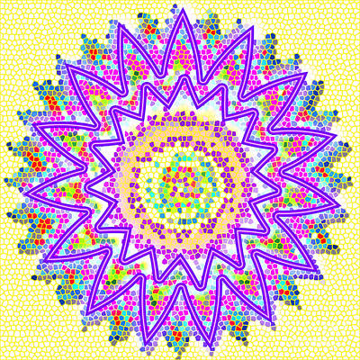 Rights Managed Images Painting - Sparkle Signature Art Chakra Round Mandala By Navinjoshi At Fineartamerica.com Rare Fineart Images  by Navin Joshi