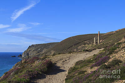 Photograph - Chapel Porth Cornwall by Brian Roscorla