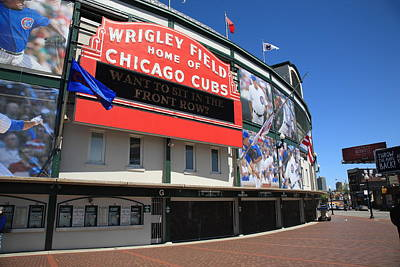 Photograph - Chicago Cubs - Wrigley Field by Frank Romeo