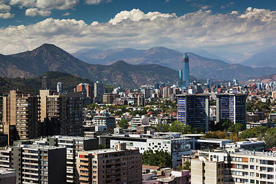 Chile, Santiago, City View Art Print by Walter Bibikow