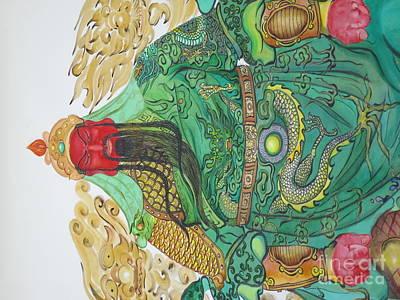 Chinese God Art Print