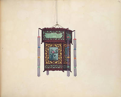 Gouache Photograph - Chinese Lantern by British Library