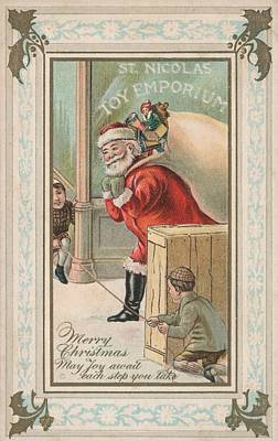 Toy Shop Painting - Christmas Card by American School