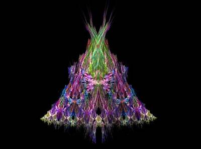 Fractal Painting - Christmas Tree by Bruce Nutting