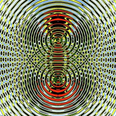 Circular Wave Interference Art Print